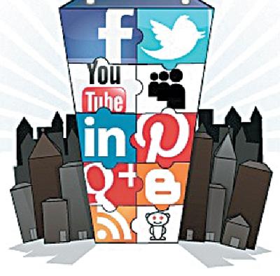 social media tower